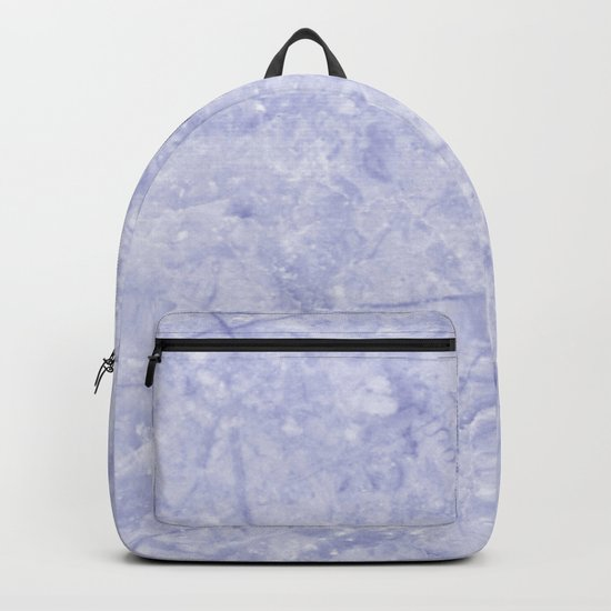 Ice Blue Marble Backpack