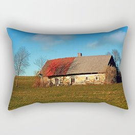 Old abandoned farmhouse | architectural photography Rectangular Pillow