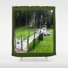 Low Tide on the Golf Course Shower Curtain