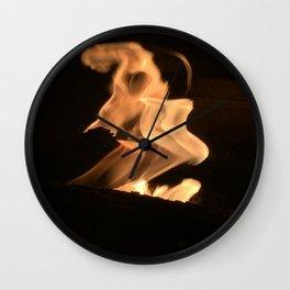 flames wrath Wall Clock