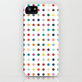 Color theory • Hues and tones •Abstract dot grid • Geometric pattern •Modern design •Minimalism iPhone Case