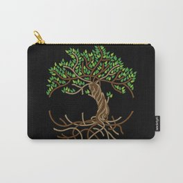 Rope Tree of Life. Rope Dojo 2017 black background Carry-All Pouch