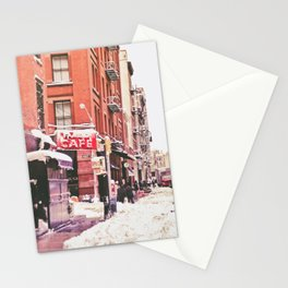 New York City Snow Soho Stationery Cards