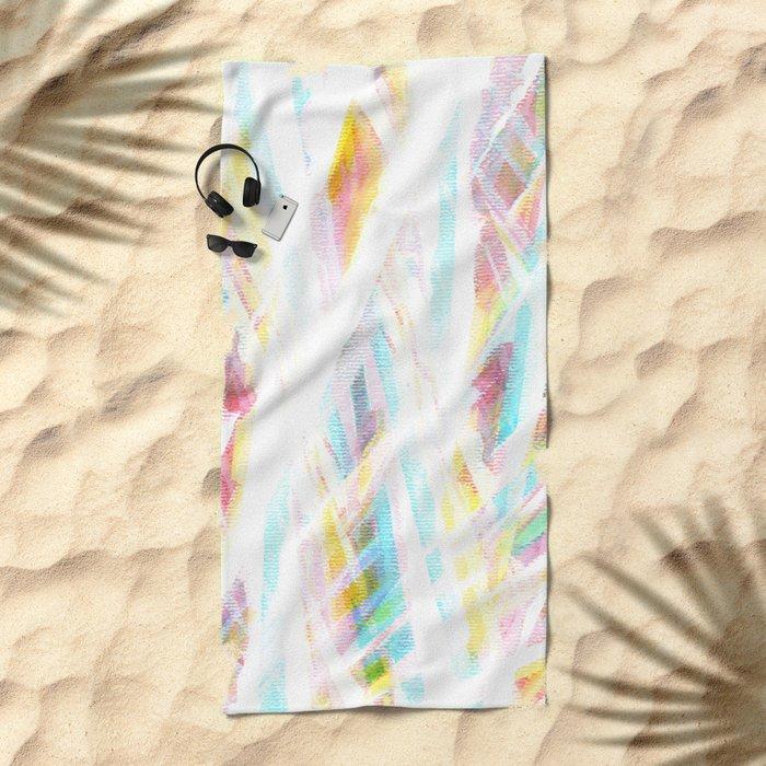 Color Rays Beach Towel