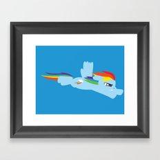 Rainbow Dash  Framed Art Print