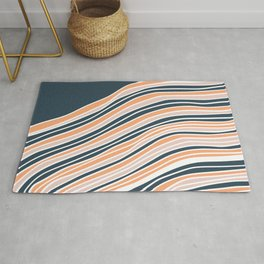 Abstract stripe line art Rug