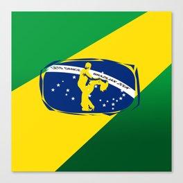 lets dance brazilian zouk flag design Canvas Print