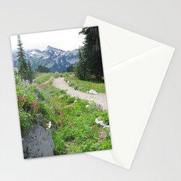 Skyline Trail Hike at Mount Rainier National Park Stationery Cards