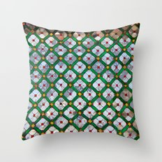 Geometric abstract tiles Throw Pillow