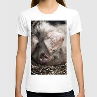 pigs T-shirts featuring Pigs Head by Goncalo