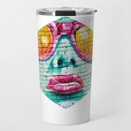 Graffiti Beauty - Geometric Photography Travel Mug