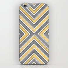 Stripes in Grey and Yellow-bold iPhone & iPod Skin