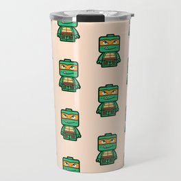 Chibi Michelangelo Ninja Turtle Travel Mug
