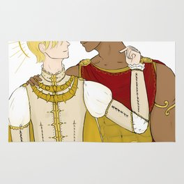 kind laurent and king damianos Rug