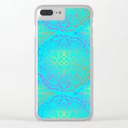 Vibrant, colourful mandala Clear iPhone Case