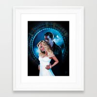 true blood Framed Art Prints featuring True Blood - Sookie & Eric by Jaime Gervais