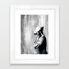 No One Will Know Who You Are Framed Art Print