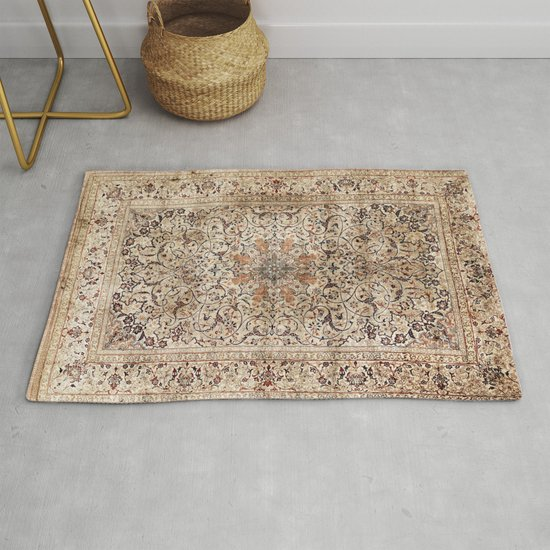 Silk Esfahan Persian Carpet Print by vickybragomitchell