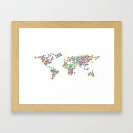 Tetris world (white one) Framed Art Print
