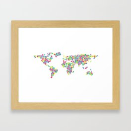 Tetris world (white one) Framed Art Print