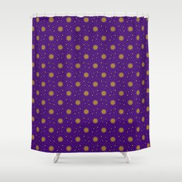 Astrological Purple Stars and Sun Shower Curtain