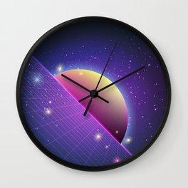 Retro sun memphis Wall Clock