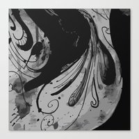 reassurance Canvas Prints featuring Ink II by Magdalena Hristova