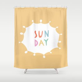Sunday in Yellow Shower Curtain