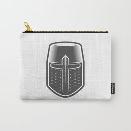 Helmet of the Medieval Knight Crusader Carry-All Pouch