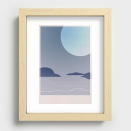 Where July Ends Recessed Framed Print