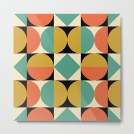 Mid Century Modern Geometric Pattern 821 Metal Print