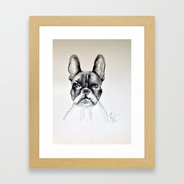Portrait of a French Bulldog Framed Art Print