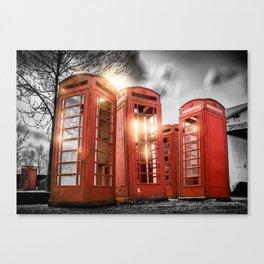 Red Phone Box - Art 2 Canvas Print