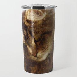 Curious Maine Coon Cat Travel Mug
