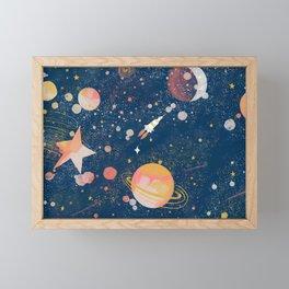 Painted Space Framed Mini Art Print