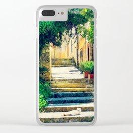 Erice art 8 Clear iPhone Case