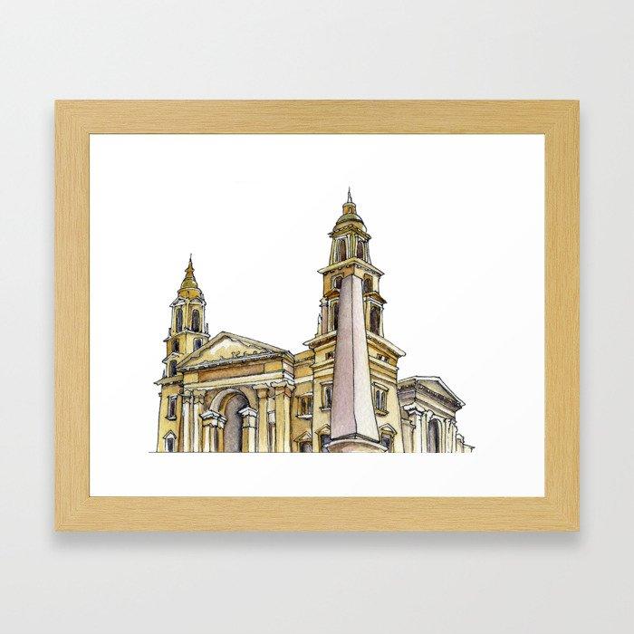 St Istvan Basilica Framed Art Print
