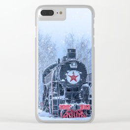 Time train Clear iPhone Case