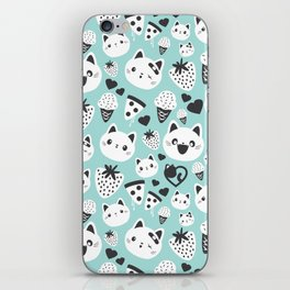 Cats & Food Pattern iPhone Skin