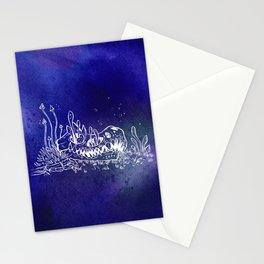 Dino skull – Blue Stationery Cards