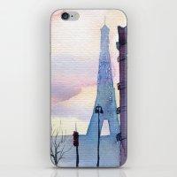 paris iPhone & iPod Skins featuring Paris by Emma Reznikova