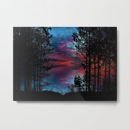 Ashland Causeway Sunset - Scituate Reservoir, Rhode Island Landscape Metal Print
