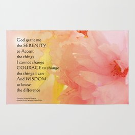 Serenity Prayer Cherry Blossoms  Rug