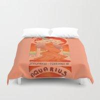 aquarius Duvet Covers featuring Aquarius by Sprat