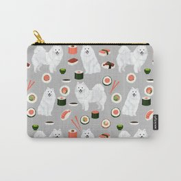 Japanese Spitz sushi kawaii dog portrait custom pet lover pattern by pet friendly Carry-All Pouch