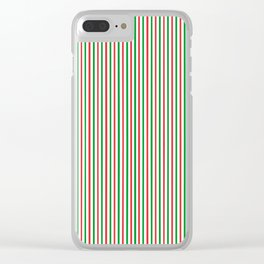 Christmas Time for Stripes Clear iPhone Case