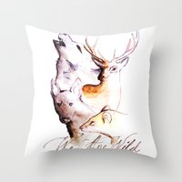 marauders Throw Pillows featuring The Marauders - We Are Wild by TheOddOwl