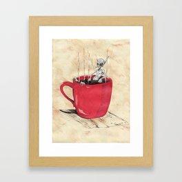 Cluster Coffee Break Framed Art Print