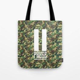 PAUSE – Camo Tote Bag