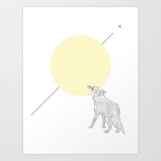 Bite the moon Art Print